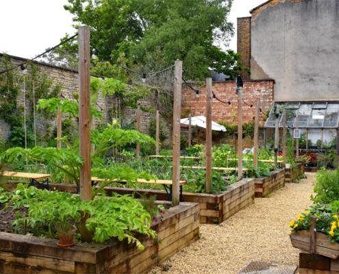 Kitchen garden at the Bull&Swanat Burghley