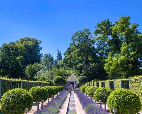 Burghley gardens, Burghley House, Stamford, English Midlands, Elizabethan House, Tudor House