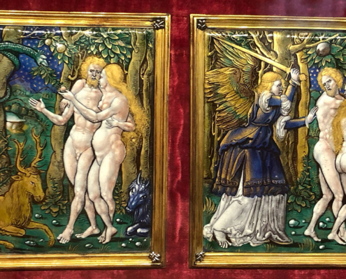 Limoges enamelled plaque, Wallace Collection, London,England