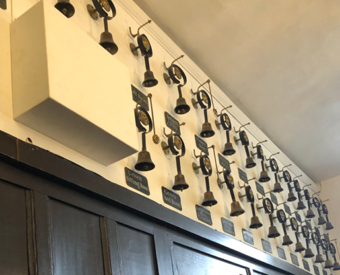 Burghley House, Servant's bells, hogs hall, Stamford, Lincolnshire