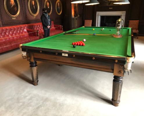Billiard table, Burghley House and Stamford, Billiard Room, Georgian billiard table