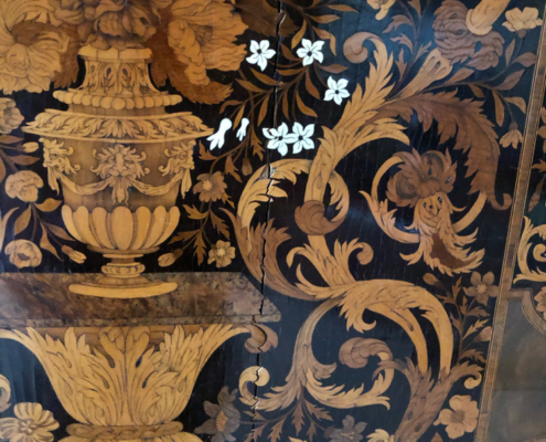 marquetry, Dutch marquetry, Burghley House, Lincolnshire, England