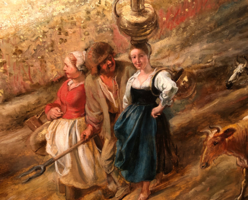 farm women from The Rainbow Landscape, Peter Paul Rubens, The Wallace Collection London