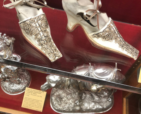 Embroidered shoes, London,England,The Wallace Collection
