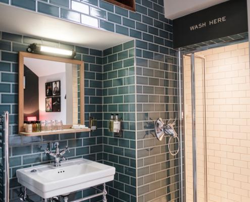 designer wet room, The Pilot, Greenwich London